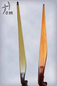 bambou blanc et bambou caramel